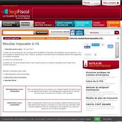 Calcul résultat fiscal impot société is LégiFiscal