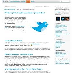 Résultat du test Twitter : le référencement social