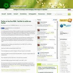 Outils veille Trouver les flus RSS des résultats de recherche sur Twitter