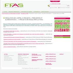 Résultats de l'appel à projets «précarité et alimentation» : 7 projets retenus par le FFAS