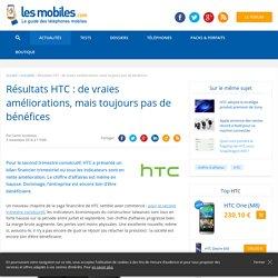 Résultats HTC : de vraies améliorations, mais toujours pas de bénéfices