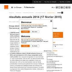 résultats annuels 2014 (17 février 2015)