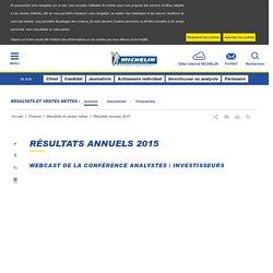 Résultats annuels 2015