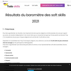 Résultats du baromètre des soft skills 2021