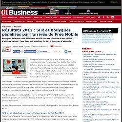 Résultats 2012 : SFR et Bouygues pénalisés par l'arrivée de Free Mobile