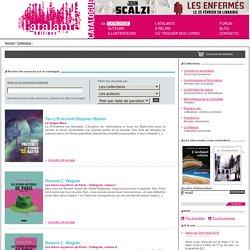 Liste de résultats catalogue Atalante.
