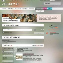Résultats / Recherche / Moteur Collections