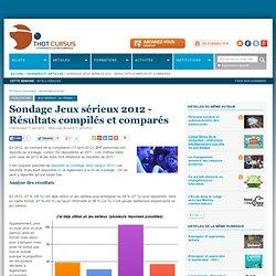 Sondage Jeux sérieux 2012 - Résultats compilés et comparés