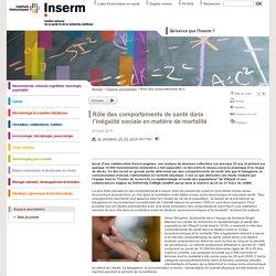 INSERM 25/03/10 Les résultats d'une étude mettent en évidence le rôle majeur des comportements de santé dans l'inégalité sociale en matière de mortalité