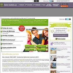 France examen : Résultats, corrigés, annales, fiches de cours pour le Bac 2011, Brevet 2011, BTS 2011, BEP 2011, CAP 2011 et BP 2011