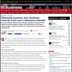 Samsung annonce des résultats records mais une croissance ralentie