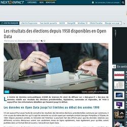 Les résultats des élections depuis 1958 disponibles en Open Data