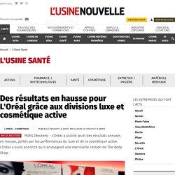 Des résultats en hausse pour L'Oréal grâce aux divisions luxe et cosmétique active - L'Usine Santé