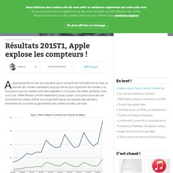 Résultats 2015T1, Apple explose les compteurs!