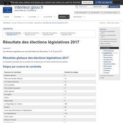 Résultats des élections législatives 2017 / Législatives / Les résultats / Elections - Ministère de l'Intérieur