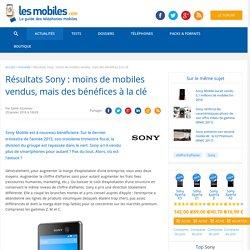 Résultats Sony : moins de mobiles vendus, mais des bénéfices à la clé