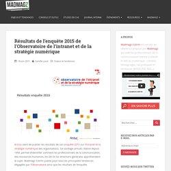 Résultats de l'enquête 2015 de l'Observatoire de l'intranet et de la stratégie numérique