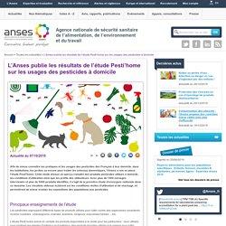 L'Anses publie les résultats de l'étude Pesti'home sur les usages des pesticides à domicile