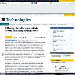 L'Hadopi dévoile ses résultats contre le piratage sur Internet