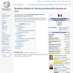 Résultats détaillés de l'élection présidentielle française de 2017