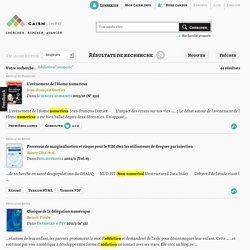 Ressources CAIRN.info - Résultats de recherche liée à la dépendance au numérique