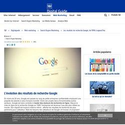 Les résultats de recherche Google, de 1998 à aujourd'hui