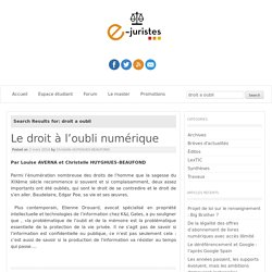 Blog e-juristes (etudiants)