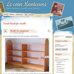 » Résultats de recherche » meuble Le coin Montessori