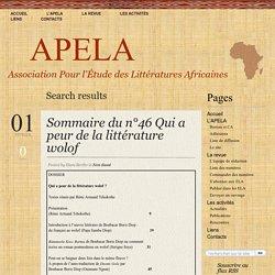 APELA » Résultats de recherche » nathalie carré