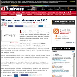 VMware : résultats records en 2013 via