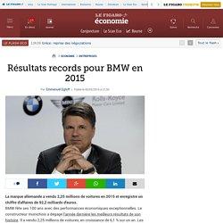 Résultats records pour BMW en 2015