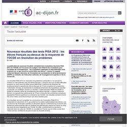 Nouveaux résultats des tests PISA 2012 : les élèves français au-dessus de la moyenne de l'OCDE en résolution de problèmes