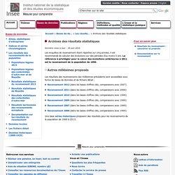 Bases de données - Archives des résultats statistiques