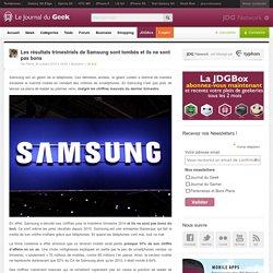 Les résultats trimestriels de Samsung sont tombés et ils ne sont pas bons