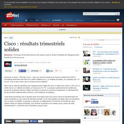 Cisco : résultats trimestriels solides
