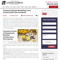Common Injuries Resulting From Construction Site Accident