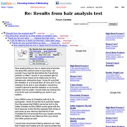 Results from hair analysis test at Candida Support Forum (MessageID: 1876412)