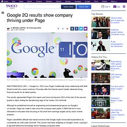 Google 2Q results show company thriving under Page