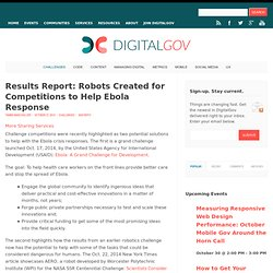 Results Report: Robots Created for Competitions to Help Ebola Response