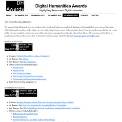 Digital Humanities Awards