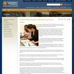 Darden Shares Results of Kindle Experiment: News: Media: Darden School of Business: UVA - UVA Darden