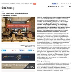 First Results Of The New Global Coworking Survey