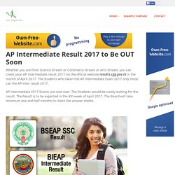 board-exam-results-2017 - AP Intermediate Result 2017 to Be OUT Soon