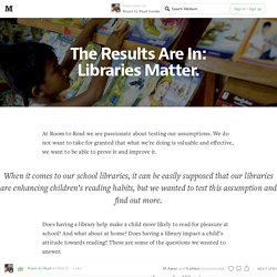 The Results Are In: Libraries Matter. — Room to Read Insider