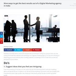 How To Get Best Result Out Of A Digital Marketing Agency