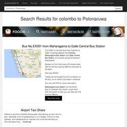 Search Results for colombo to Polonaruwa