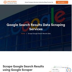 Google Search Results Data Scraping