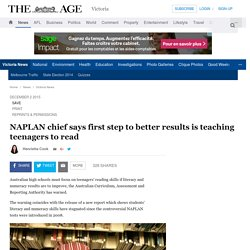 NAPLAN Chief - The First step to Better Results
