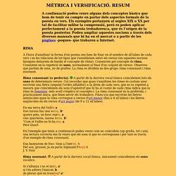 Resum de mètrica catalana