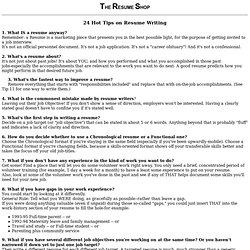 Resume - 24 great resume tips